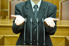 Discorso parlamentare Fotografia Stock