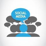 Discorso sociale di media Fotografia Stock