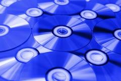 Discos azules del rayo Imagen de archivo libre de regalías