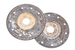 Discos circulares oxidados Imagen de archivo