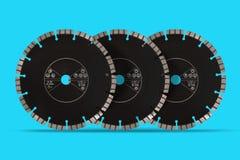 Discos com diamantes - discos do corte do diamante para o isolado concreto Imagens de Stock