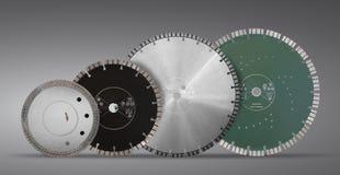 Discos con los diamantes - discos del corte del diamante para el aislante concreto Foto de archivo
