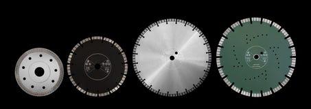 Discos con los diamantes - discos del corte del diamante para el aislante concreto Imagen de archivo libre de regalías
