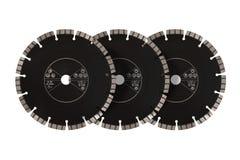 Discos con los diamantes - discos del corte del diamante para el aislante concreto Imágenes de archivo libres de regalías
