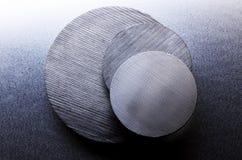 Discos de acero Imágenes de archivo libres de regalías
