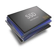 Discos de circuito integrado com trajeto de grampeamento Imagem de Stock Royalty Free