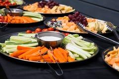 Discos de la comida fría Fotografía de archivo libre de regalías