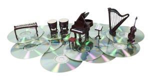 Discos de la música Imagen de archivo