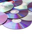 Discos de los media en blanco imágenes de archivo libres de regalías
