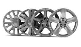 Discos de quatro rodas isolados no branco Imagens de Stock Royalty Free