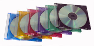 Discos de SD/DVD Imagens de Stock Royalty Free