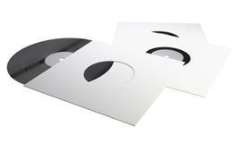 Discos de vinilo en los paquetes Imagen de archivo libre de regalías