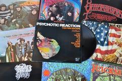 Discos de vinilo psicodélicos de la roca Imagen de archivo