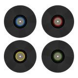 Discos de vinilo retros del ` s del vintage 80 Nostalgia 80s stock de ilustración
