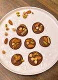 Discos del chocolate - Mediants Foto de archivo libre de regalías