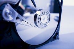 Discos del disco duro Abra el disco duro del hdd Recuperación de los datos de medios dañados Fotografía de archivo libre de regalías