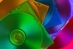 Discos del ordenador en rectángulos multiciolored Foto de archivo
