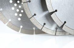 Discos do corte com diamantes - discos do diamante para o concreto isolado no fundo branco Imagens de Stock Royalty Free
