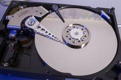 Discos do disco rígido Abra o disco rígido do hdd Recuperação dos dados dos meios danificados Imagens de Stock