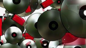 Discos do flash e do CD do usb do voo ilustração royalty free