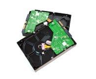 Discos duros aislados en el fondo blanco Fotos de archivo libres de regalías