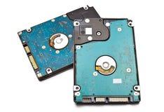 Discos duros aislados en el fondo blanco Imagen de archivo