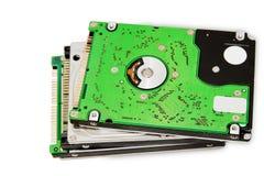 discos duros del cuaderno Foto de archivo