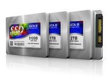 Discos duros del SSD Imagen de archivo libre de regalías