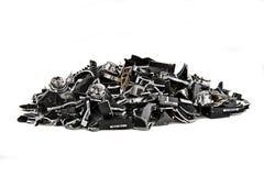 Discos duros demolidos en blanco Foto de archivo libre de regalías