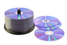 Discos en blanco del DVD Imagenes de archivo