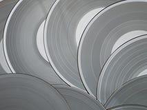 Discos grises del vinilo Fotos de archivo libres de regalías