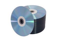 Discos no branco Foto de Stock