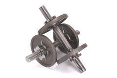 Discos para las pesas de gimnasia fotografía de archivo