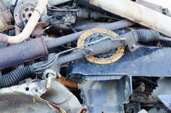 Discos y otro de embrague oxidados inútiles, usados Foto de archivo libre de regalías