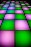 DiscoTanzboden mit bunter Beleuchtung Lizenzfreie Stockbilder