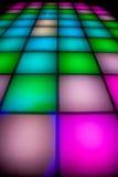DiscoTanzboden mit bunter Beleuchtung Lizenzfreies Stockfoto