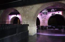 Discoteca de París bajo el puente fotografía de archivo libre de regalías