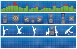 discoteca degli altoparlanti del livello sonoro della bandiera Immagine Stock Libera da Diritti