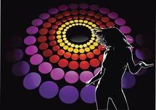 Discoteca del danzatore 01 del randello Fotografie Stock Libere da Diritti