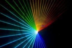 Discoteca ed esposizione del laser Immagini Stock Libere da Diritti