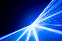Discoteca ed esposizione del laser Fotografia Stock Libera da Diritti