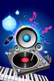 Discoteca musicale Fotografia Stock