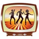 Discoteca TV Fotografie Stock