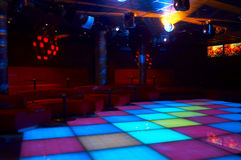Discoteque. Night bar and mega lights Stock Photography
