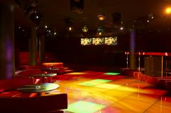 Discoteque. Night bar and mega lights Stock Images