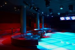 Discoteque. Night bar and mega lights Royalty Free Stock Images