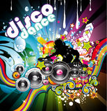 Discoteque Colorful Background. Abstract Water Discoteque Colorful Background Royalty Free Stock Photos