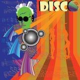 discotequereklamblad royaltyfri illustrationer