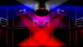 discotheque клуба цветастый освещает ночу иллюстрация вектора