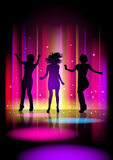 Discotheque. Vector illustration of dancing girls Royalty Free Stock Image
